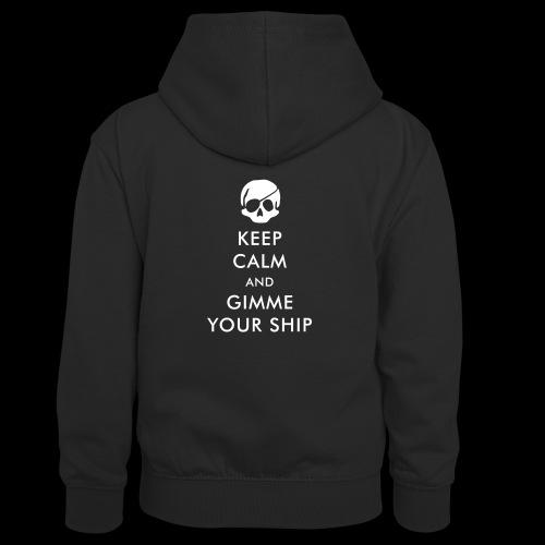 keep calm and gimme your ship - Kinder Kontrast-Hoodie