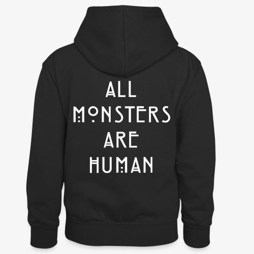 All Monsters Are Human - Sweat à capuche contrasté Enfant