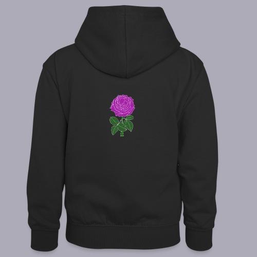 Landryn Design - Pink rose - Kids' Contrast Hoodie