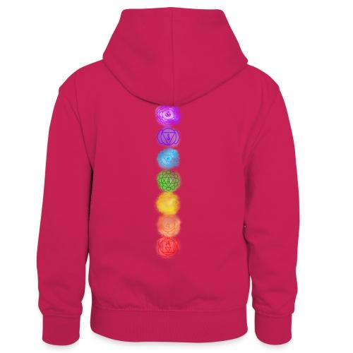 linea chakra - Felpa con cappuccio in contrasto cromatico per bambini