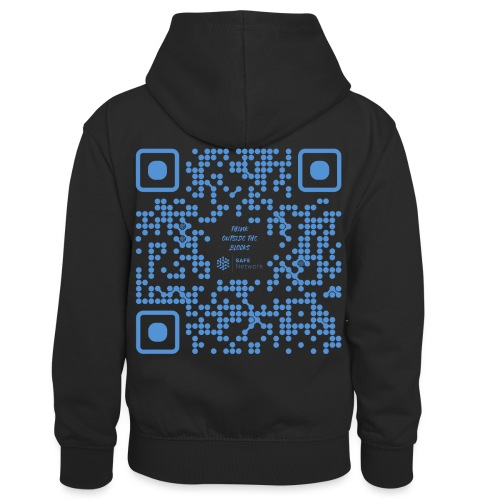 QR The New Internet Shouldn t Be Blockchain Based - Kids' Contrast Hoodie