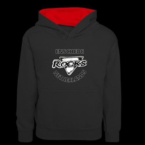 Rocks Enschede NL B-WB - Teenager contrast-hoodie/kinderen contrast-hoodie