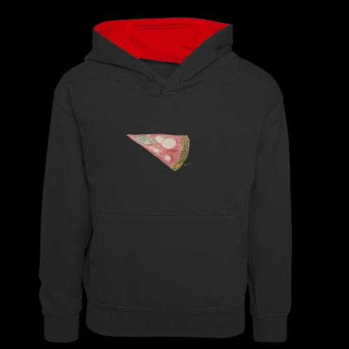 BY TAiTO Pizza Slice - Lasten kontrastivärinen huppari