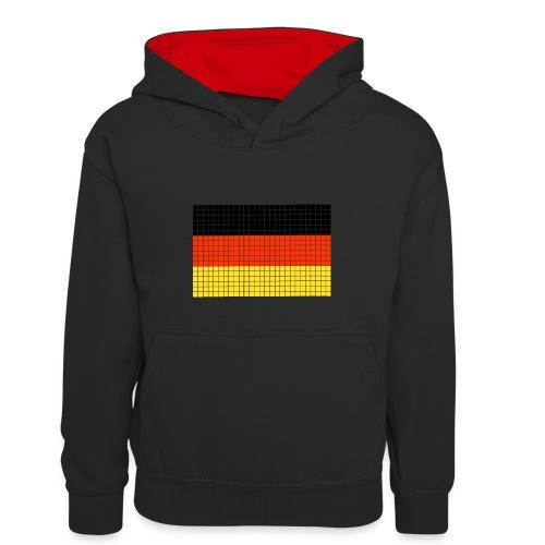 german flag.png - Felpa con cappuccio in contrasto cromatico per bambini