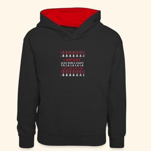 Gay Christmas sweater - Dziecięca bluza z kontrastowym kapturem