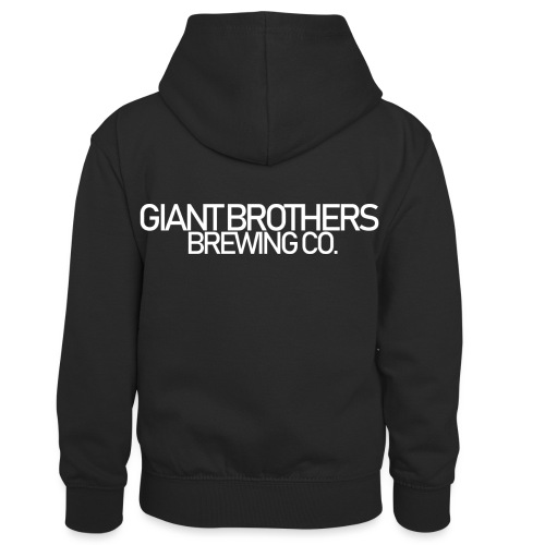 Giant Brothers Brewing co white - Kontrastluvtröja barn