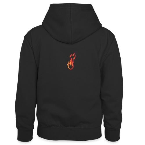 fiamma - Felpa con cappuccio in contrasto cromatico per bambini