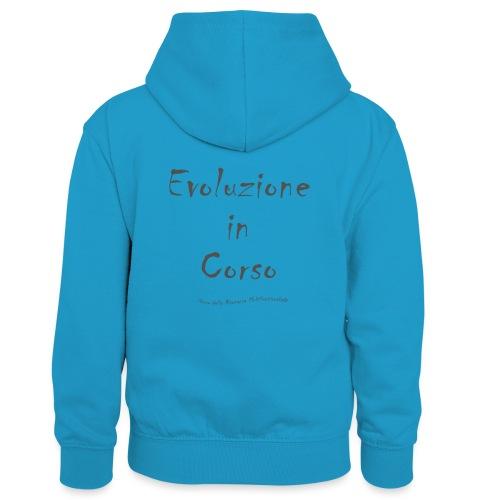 Evoluzione in corso - Felpa con cappuccio in contrasto cromatico per bambini