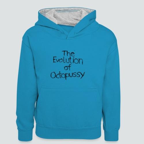 Evoctopussy png - Kinder Kontrast-Hoodie