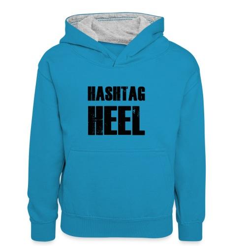 hashtagheel - Kids' Contrast Hoodie