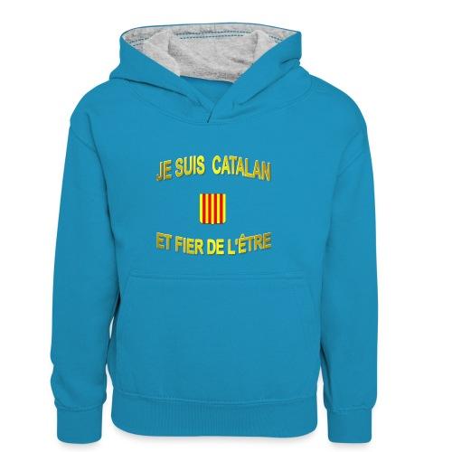 Tee-Shirt supporter du pays CATALAN - Sweat à capuche contrasté Enfant