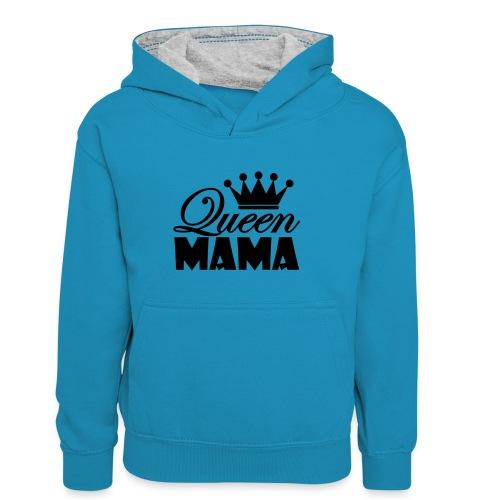 queenmama - Kinder Kontrast-Hoodie