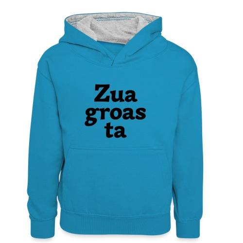 Zuagroasta - Kinder Kontrast-Hoodie