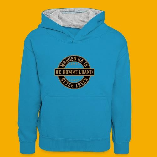 bb logo rond shirt - Teenager contrast-hoodie/kinderen contrast-hoodie