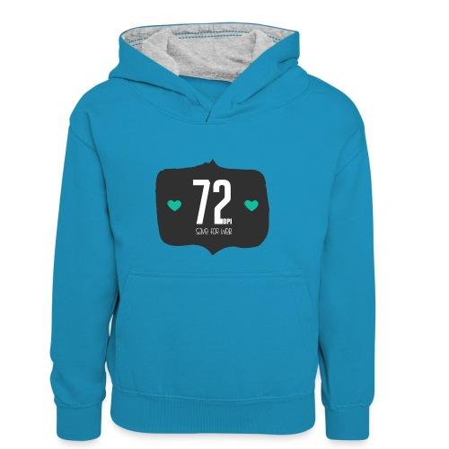 72DPI - Teenager contrast-hoodie/kinderen contrast-hoodie