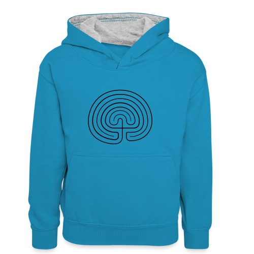 Labyrinth enna - Kinder Kontrast-Hoodie