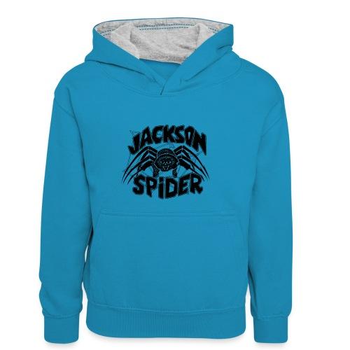 jackson spreadshirt - Kinder Kontrast-Hoodie