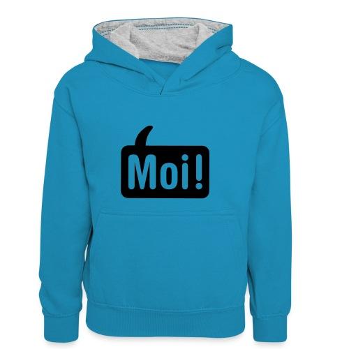 hoi shirt front - Teenager contrast-hoodie/kinderen contrast-hoodie