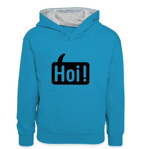 hoi front - Teenager contrast-hoodie/kinderen contrast-hoodie