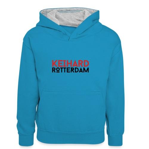 Keihard Rotterdam - Teenager contrast-hoodie/kinderen contrast-hoodie