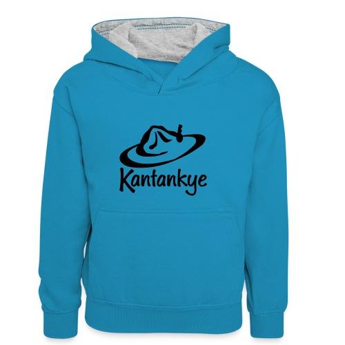 logo hoed naam - Teenager contrast-hoodie/kinderen contrast-hoodie