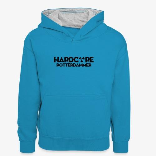 Hardcore Rotterdammer - Teenager contrast-hoodie/kinderen contrast-hoodie