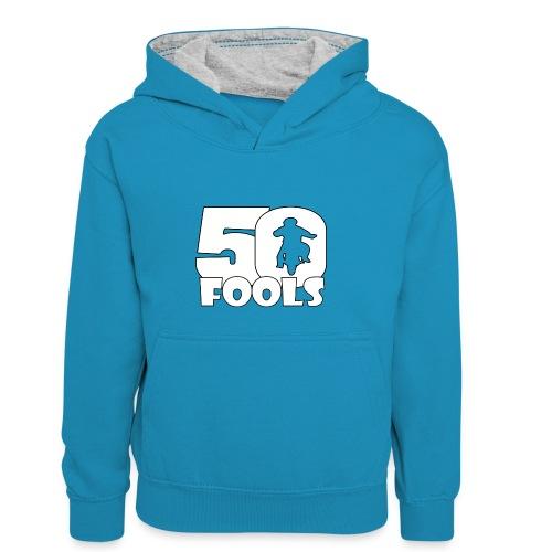 50FOOLSLOGOSPREADSHIRT png - Teenager contrast-hoodie/kinderen contrast-hoodie