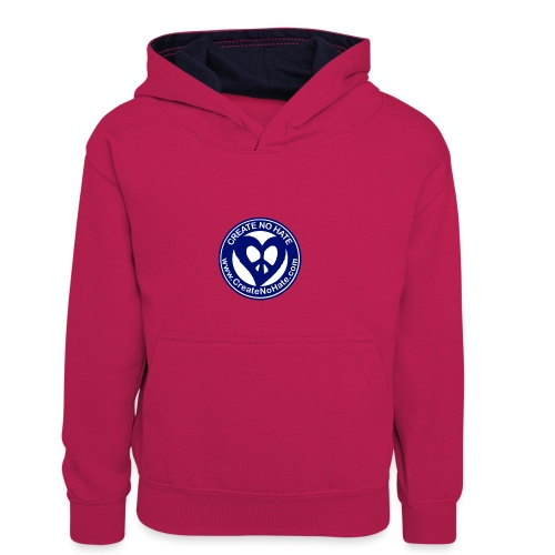 THIS IS THE BLUE CNH LOGO - Kids' Contrast Hoodie