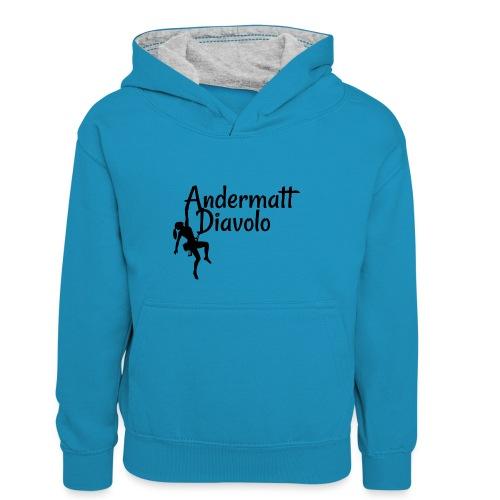 Andermatt Diavolo Uri Geschenkidee - Kinder Kontrast-Hoodie