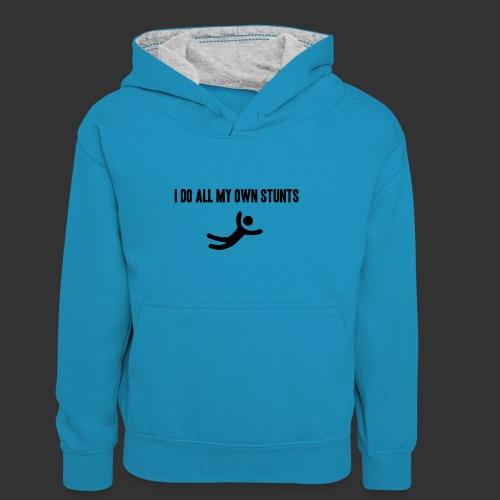 T-shirt, I do all my own stunts - Kontrastluvtröja barn
