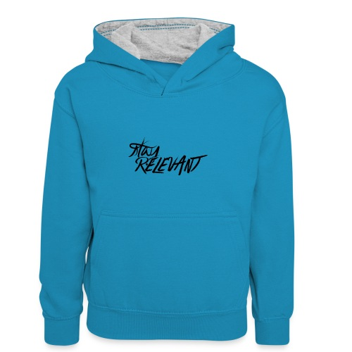 stay relevant png - Kids' Contrast Hoodie