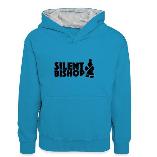 Silent Bishop Logo Groot - Teenager contrast-hoodie/kinderen contrast-hoodie