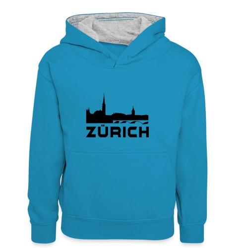Zürich - Kinder Kontrast-Hoodie