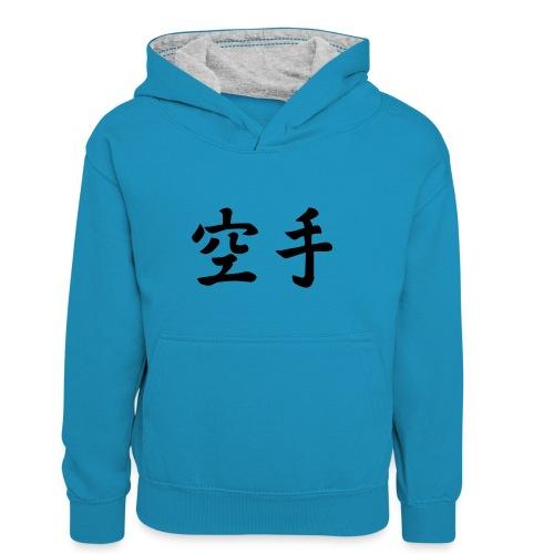 karate - Teenager contrast-hoodie/kinderen contrast-hoodie