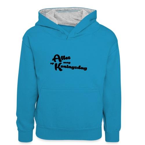 Alles mag op Koningsdag - Teenager contrast-hoodie/kinderen contrast-hoodie