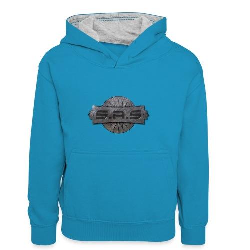 metal background scratches surface 18408 3840x2400 - Teenager contrast-hoodie/kinderen contrast-hoodie