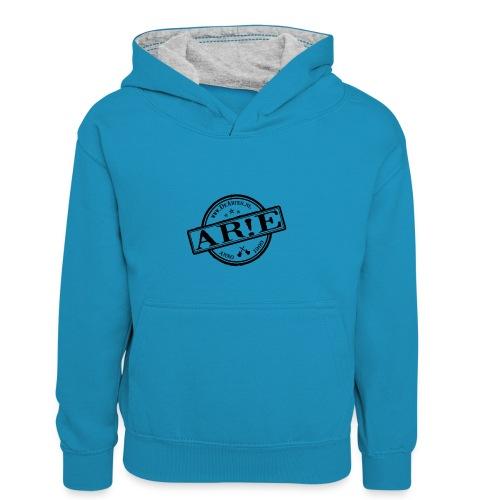 Backdrop AR E stempel zwart gif - Teenager contrast-hoodie/kinderen contrast-hoodie