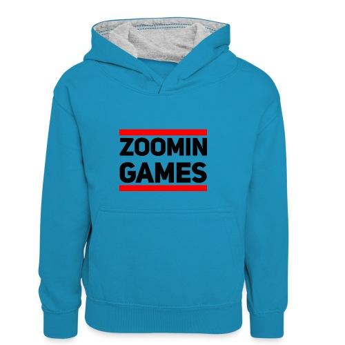 9815 2CRUN ZG - Kids' Contrast Hoodie