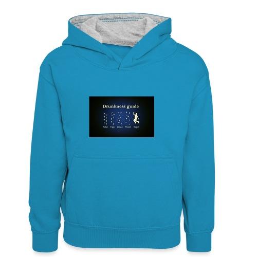 DRUNK - Teenager contrast-hoodie/kinderen contrast-hoodie