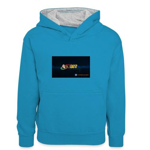OhrBit Logo - Kinder Kontrast-Hoodie