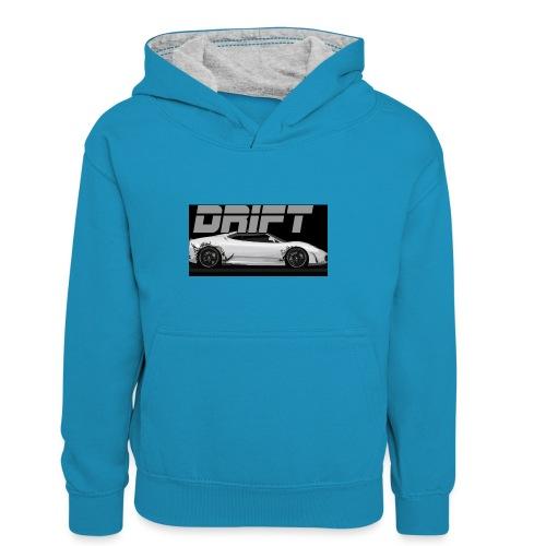 drift - Kids' Contrast Hoodie
