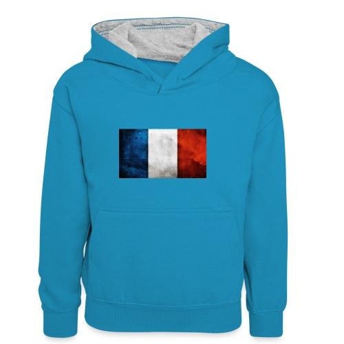 France Flag - Kids' Contrast Hoodie