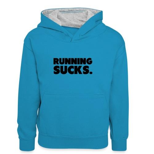 Running Sucks - Lasten kontrastivärinen huppari