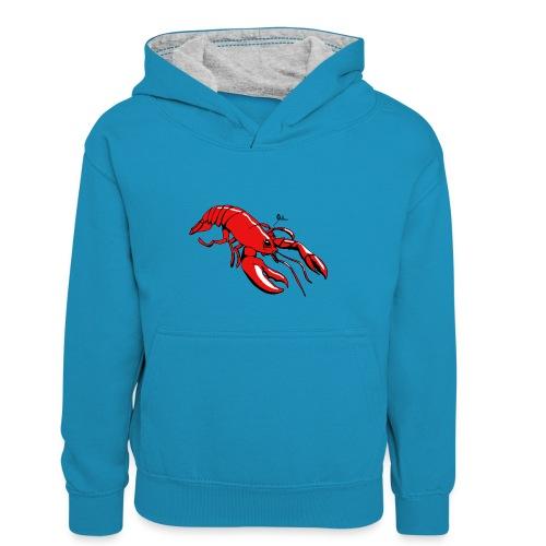 Lobster - Kids' Contrast Hoodie