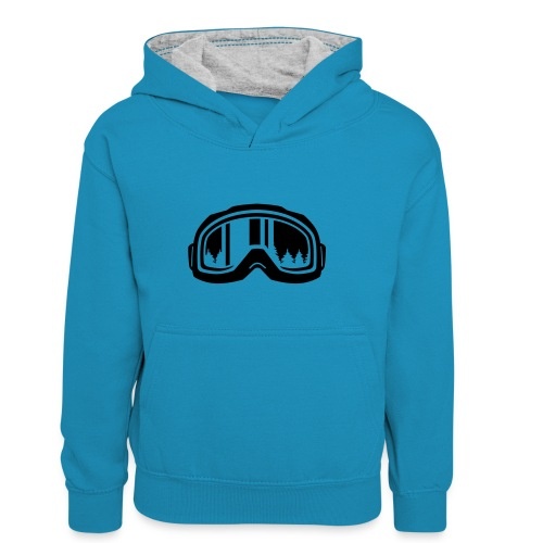 snowboard - Teenager contrast-hoodie/kinderen contrast-hoodie
