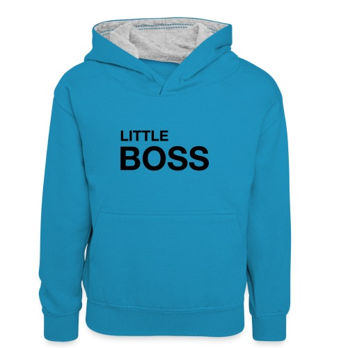 little boss 01 - Kinder Kontrast-Hoodie