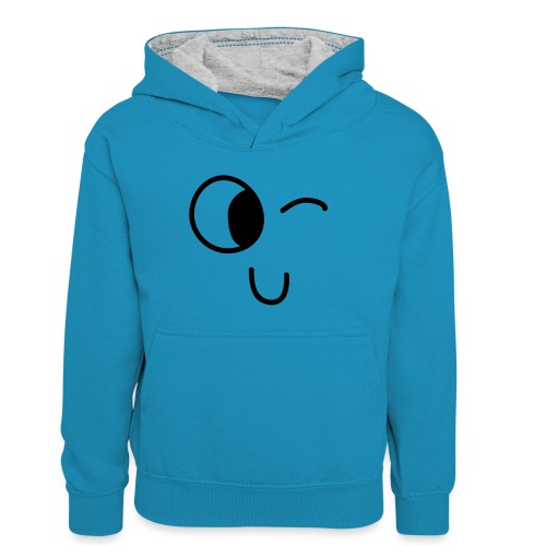 Jasmine's Wink - Teenager contrast-hoodie/kinderen contrast-hoodie