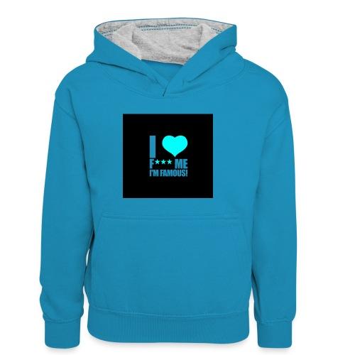 I Love FMIF Badge - Sweat à capuche contrasté Enfant