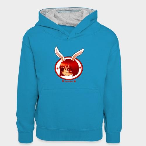 Geneworld - Bunny girl pirate - Sweat à capuche contrasté Enfant