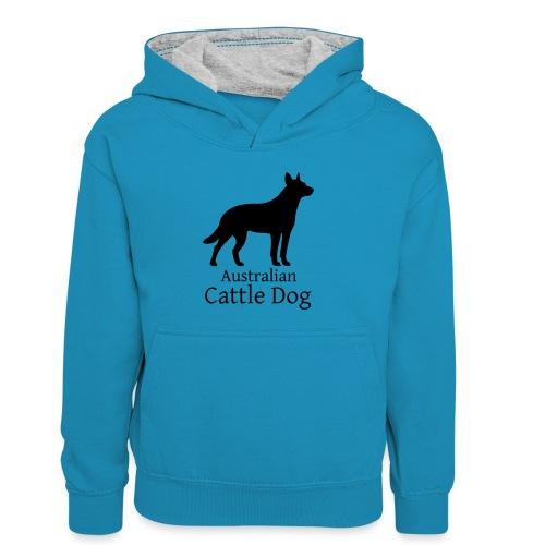 Australian Cattle Dog - Kinder Kontrast-Hoodie
